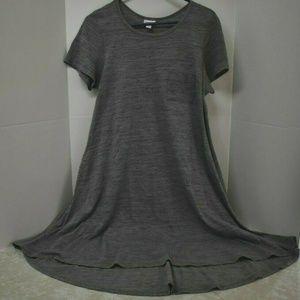 LuLaRoe Microstripe Heather Gray Black Carly Dress